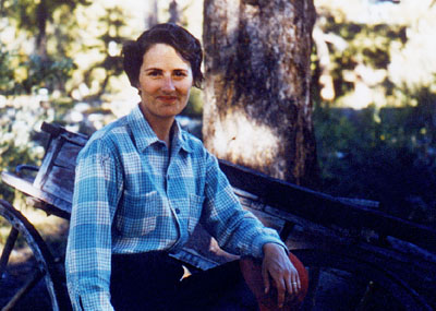 Elanor Stewart at nimpo Lake